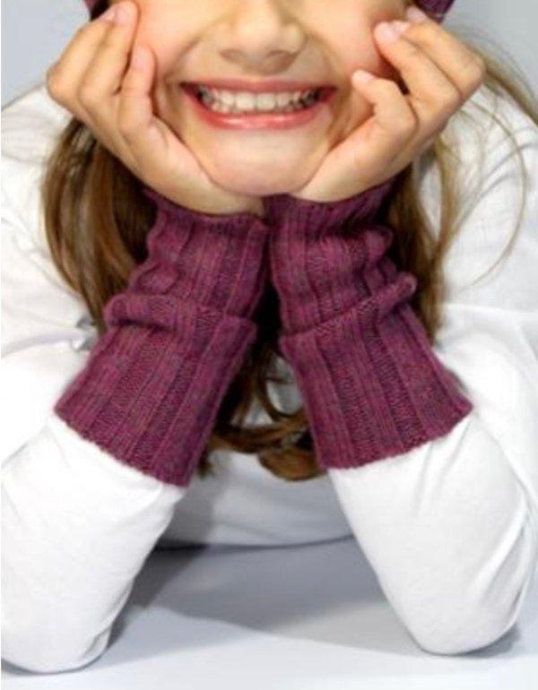 Kinder-Pulswärmer gerippt (in vielen Farben)