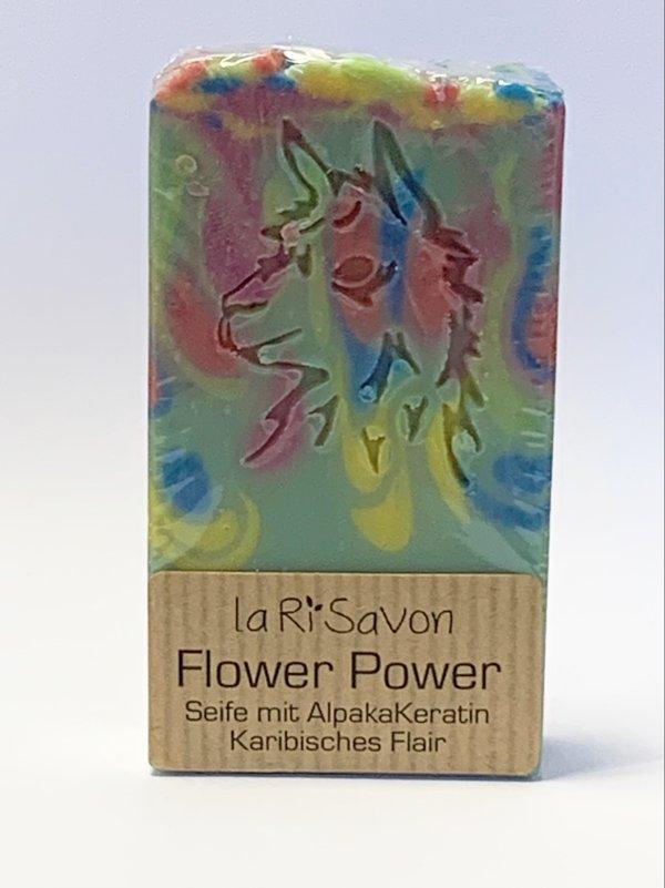 "Alpaka-Keratin Seife - ""Flower Power"""