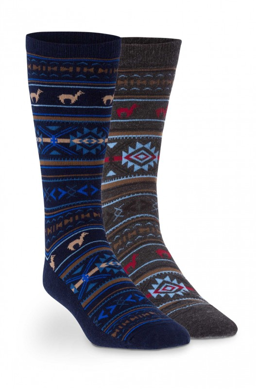 Alpaka Premium Jacquard Socken (Baby-Alpakawolle)