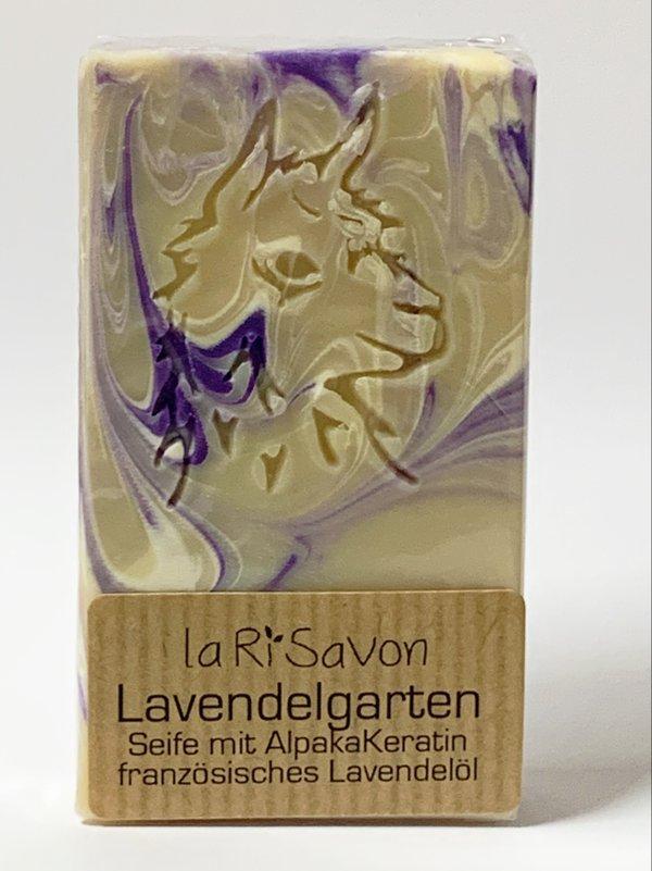"Alpaka-Keratin Seife - ""Lavendelgarten"""