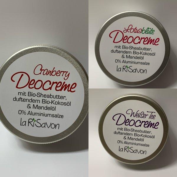 Deocreme mit Bio-Sheabutter, duftendem Bio-Kokosöl & Mandelöl