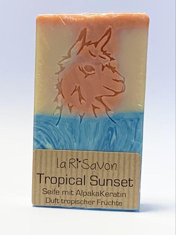 """Alpaka-Keratin Seife - """"Tropical Sunset"""""""